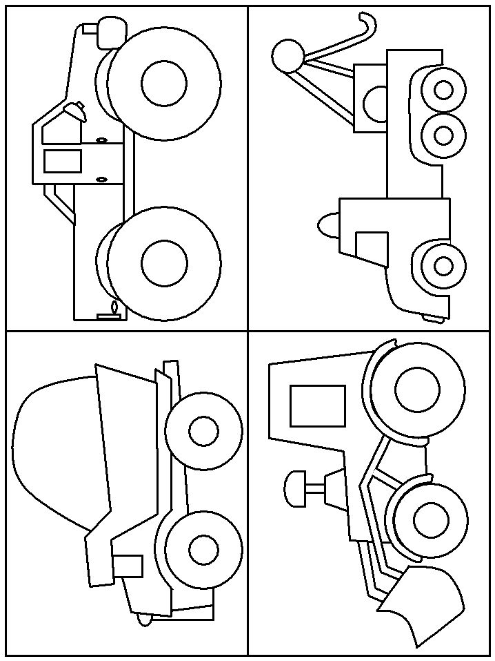 218 best * construction vehicles, tractor silhouettes, vectors ... - Construction Truck Coloring Pages
