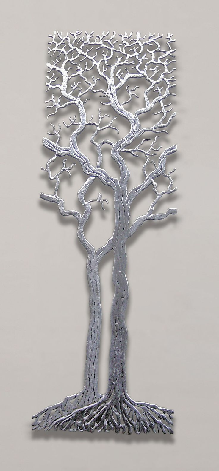 centuries tree bernard collin metal wall art artful home: tree scene metal wall art