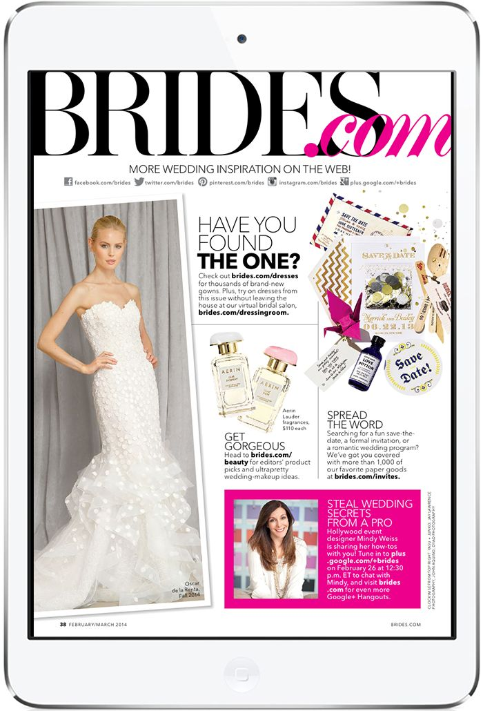 BRIDES Tablet Magazine (replica). By Condé Nast Digital. More on www.magpla.net MagPlanet #TabletMagazine #DigitalMag