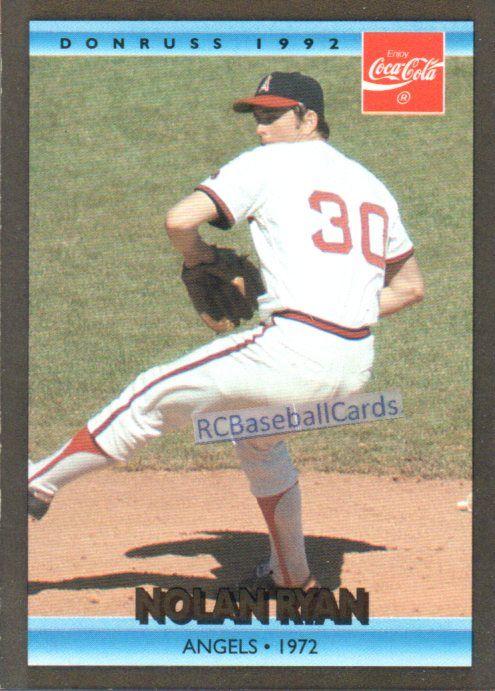 1992 Nolan Ryan Angels 1 Donruss Coca Cola 6 Baseball