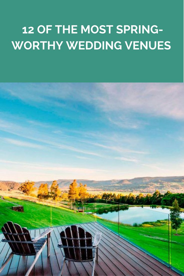 12 of the most Spring-worthy wedding venues