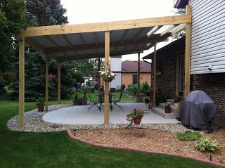 17 best images about patio covers on pinterest covered for Cheap patio cover ideas