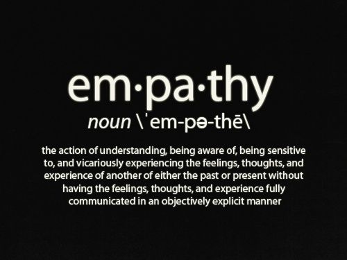 "Empathy - It's why you're here.  Pass it along :)    I'm not followed here just becauYou're honestly probably not either and tell people what I say: "" Why are you good with people? Why do you engage with people who can offer you very little?"" I think you'll find that you're empathetic. The ability to understand someone else from an emotional perspective as well as a logical one is so extremely important. You possess and amazing ability to identify with the human condition...and that's…"