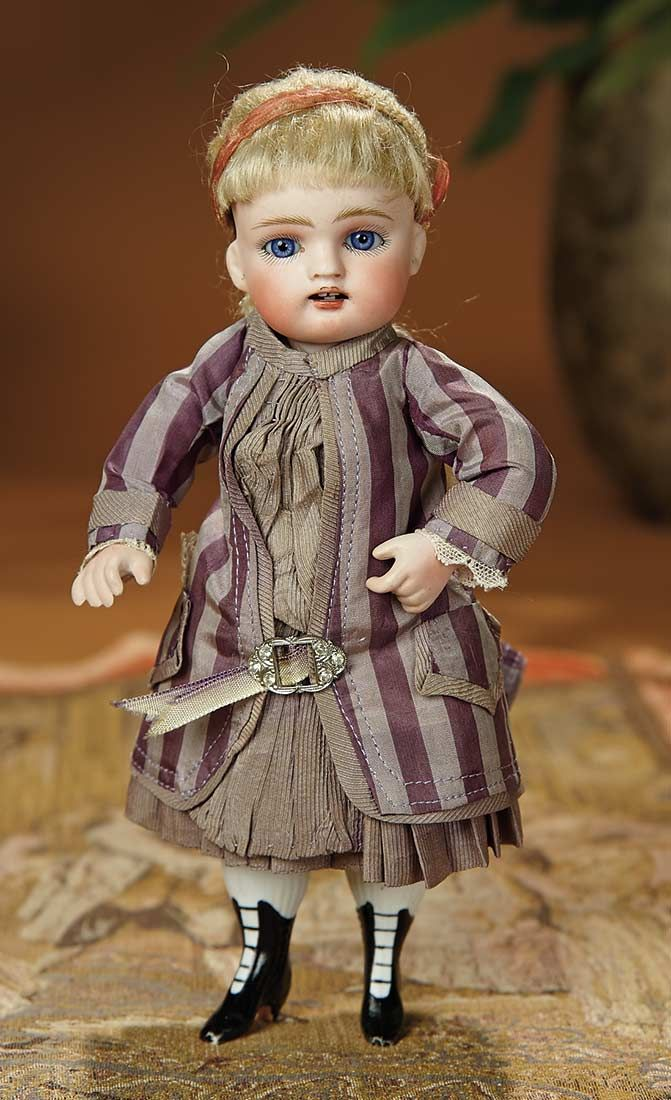 """Bread and Roses - Auction - July 26, 2016: Lot #99 German All-Bisque Doll by Kestner Known as """"French Wrestler"""""""