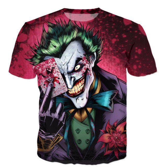 Raisevern new the Joker 3d t shirt funny comics character joker with poker 3d…