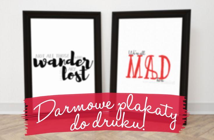 Literackie plakaty typograficzne | Darmowe plakaty do druku! http://thecarolinasbook.net/literackie-plakaty-do-druku/
