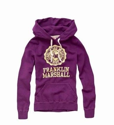Franklin Marshall Hoodie Sweatshirt Purple223