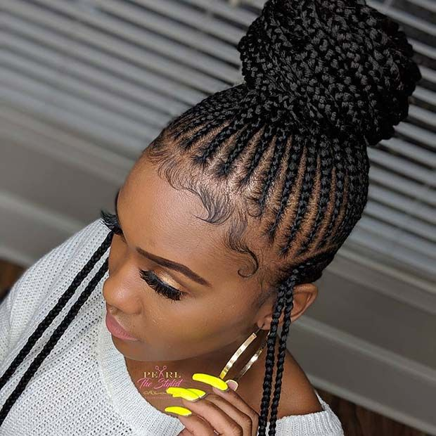 23 Braided Bun Hairstyles For Black Hair Page 2 Of 2 Stayglam Hair Styles African Braids Hairstyles Braided Hairstyles