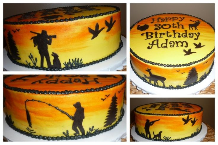 Hunting & Fishing Birthday on Cake Central