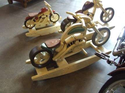 816 best images about earth works crafts on pinterest for Woodworking plan for motorcycle rocker toy