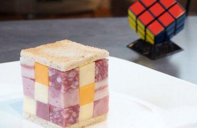 Manger un sandwich Rubik's cube
