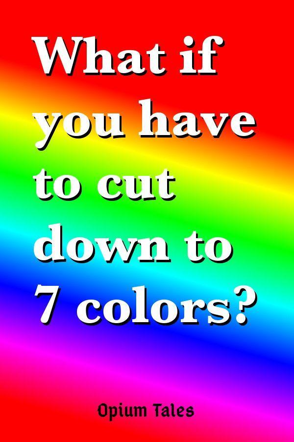 Seven Color Watercolor Palette Watercolor Color Palette