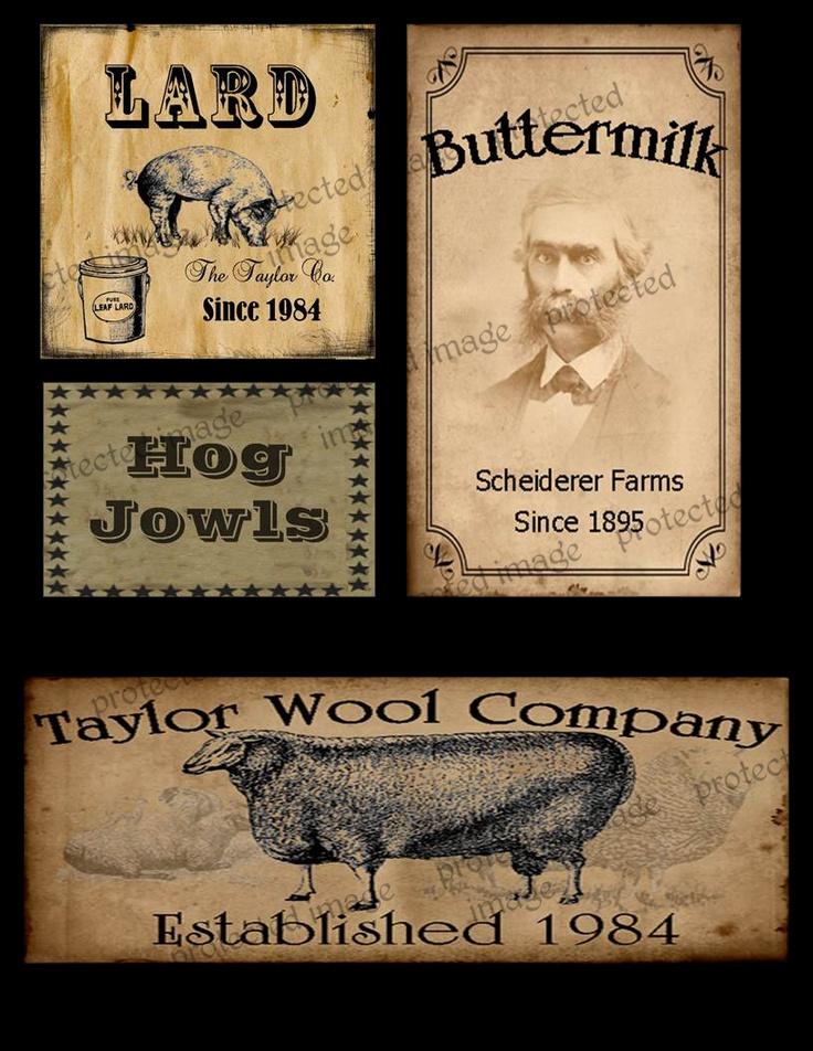 Www Primitivelabels Com Primitive Labels Pantry Labels