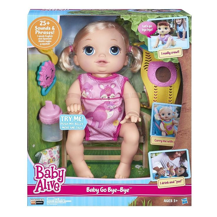 Baby Alive Baby Go Bye Bye Blonde doll set girls interactive toy