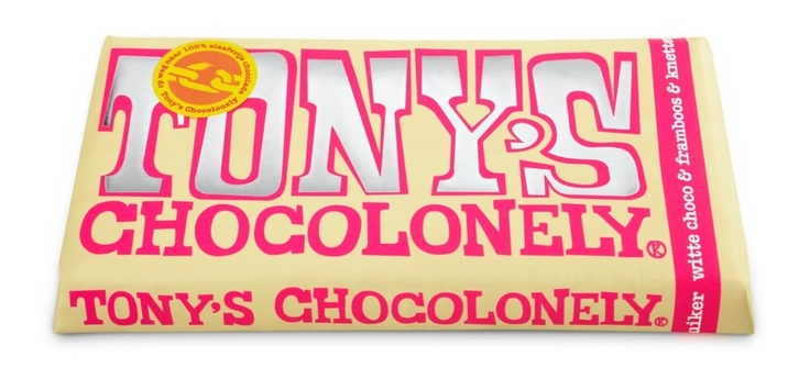 Tony Chocolonely - wit met framboos en knettersuiker