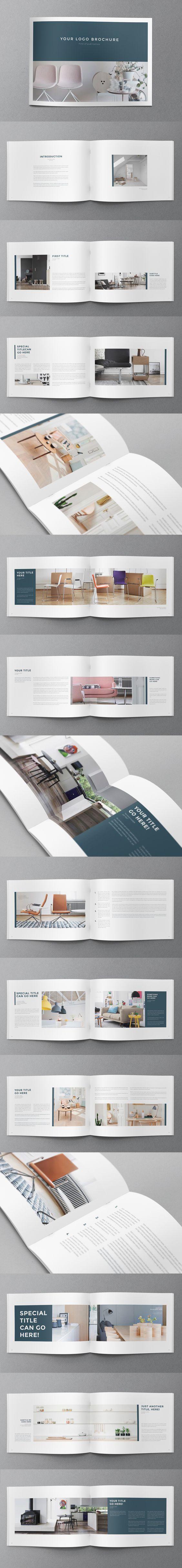 Interior Design Minimal Brochure. Download here: http://graphicriver.net/item/interior-design-minimal-brochure/11243000?ref=abradesign #brochure #design: