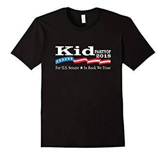 The Kid Rock For Senate 2018 Election Shirt Vote Rock Party In Upcoming US Senate Race - Party To The People Born Free In Rock We Trust - Kid Rock Senate Michigan 2018 #Detroit #KidRockForSenate #KidRock #KidRock2018