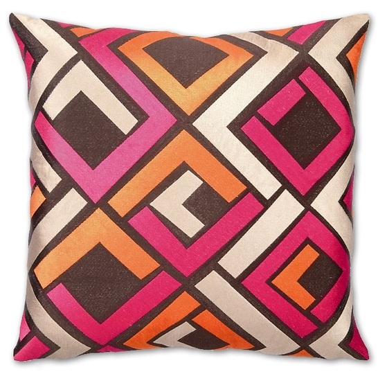 Brown Maze Embroidery Fashion Pillow Embroidery Fashion Pillow Courtesy of InStyle-Decor.com Beverly Hills Inspiring & supporting Hollywood interior design professionals and fans, sharing beautiful luxe home decor inspirations, trending 1st in Hollywood Repin, Share & Enjoy