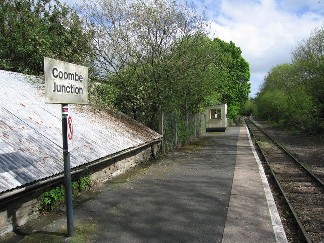 Coombe Junction Halt serves the villages of Coombe & Lamellion nr Liskeard, Cornwall. Situated on the Looe Valley Line. One of only two stations in the current National Rail Timetable, officially to have the suffix 'halt'. The term 'halt' was finally removed from British Rail timetables, station signs & other official documents by 1974: the return of the term came only for these two stations in 2008.