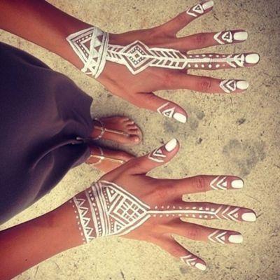 White hennas cute