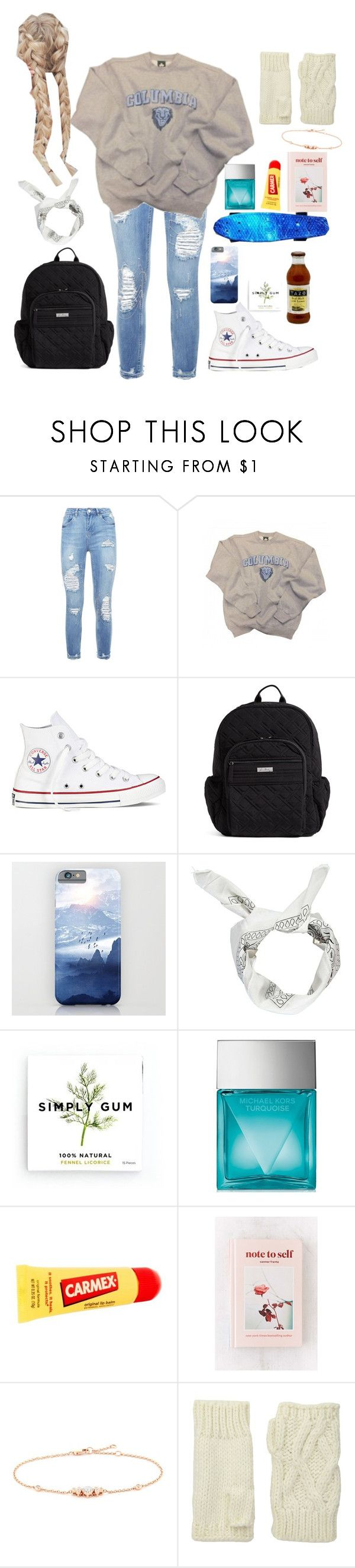 """School"" by haley-hetrick on Polyvore featuring Columbia, Converse, Vera Bradley, Boohoo, Simply Gum, Michael Kors, Carmex, Urban Outfitters, LC COLLECTION and San Diego Hat Co."