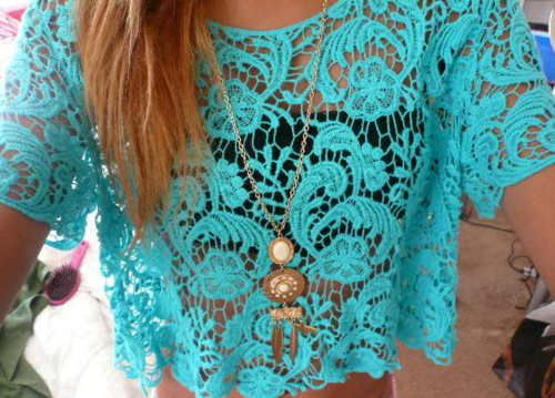 : Lace Tops, Styles Tips, Color, Fashion Styles, Summer, Blue Lace, Lace Shirts, Lace Crop Tops, Lace Clothing