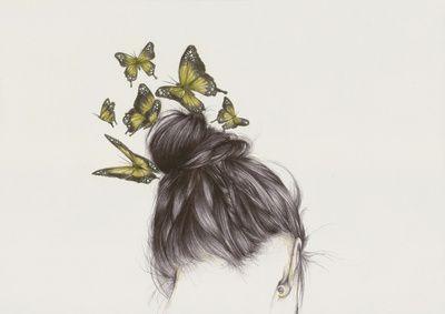 Hair II  by The White Deer #art
