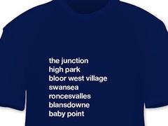 Neighbourhood T-Shirt: Toronto West End