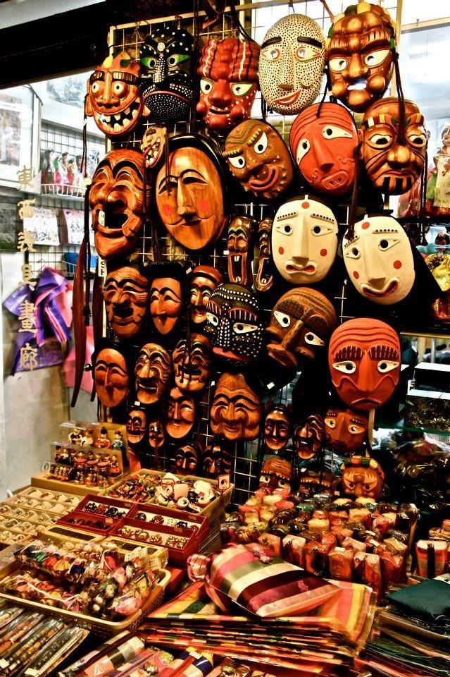 Traditional masks. Art : )