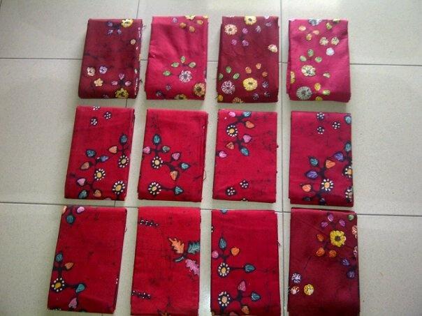 kain batik tulis merah cabe Id20347