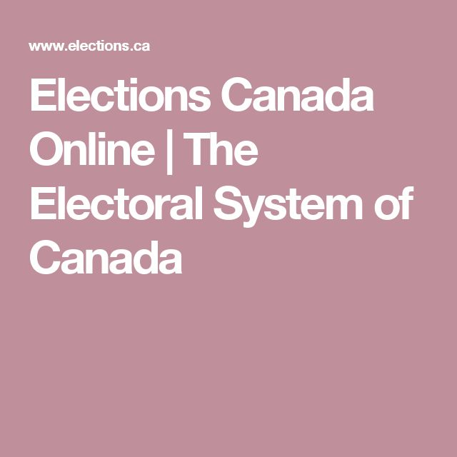 Canadian Electoral Systems