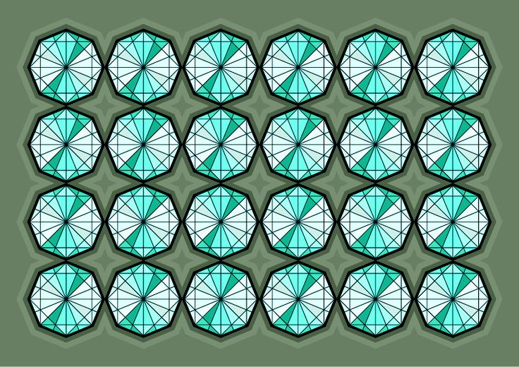 Diamonds are Forever - Islamic Geometry www.tubbyphunk.com