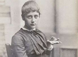 Beatrix Potter's Extraordinary Career on @Etsy // Beatrix Potter with Her Pet Mouse Xarifa, 1885