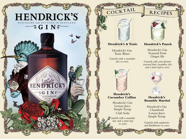 funky branding for Hendrick's Gin