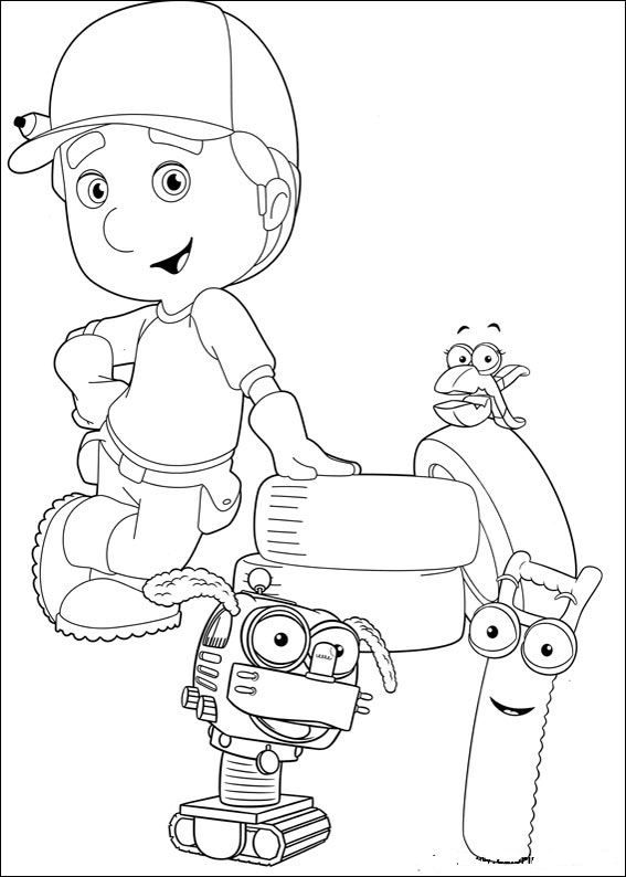 handy manny cartoon coloring for kids printable coloring pages for kids - Handy Manny Hammer Coloring Pages