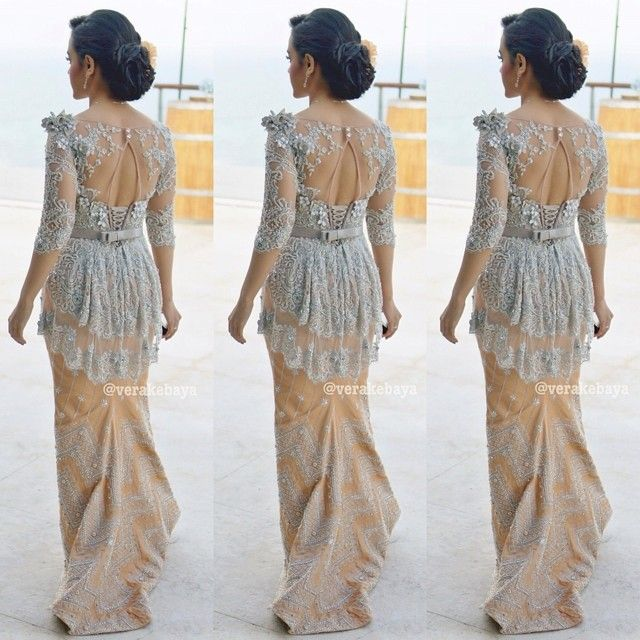 Back detail. Wedding gown. Wedding dress. Songket by Verakebaya ❤️