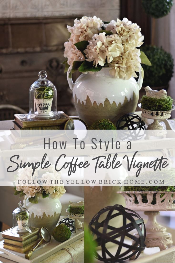 How To Style a Simple Coffee Table Vignette Styled Tray Ideas