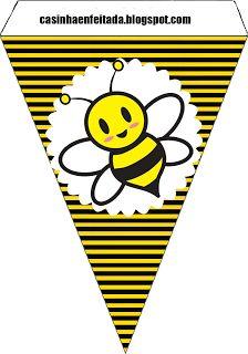 Kit Festa Abelhinha Para Imprimir Grátis Banner bees free