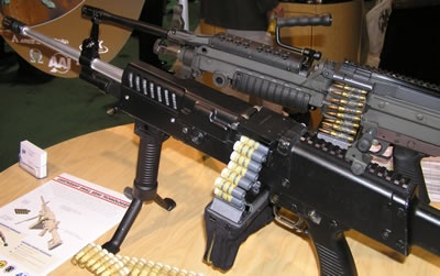 Lightweight Small Arms Technology (LSAT) rifle is under development by AAI, as an Army Technology Development initiative since 2004.The new weapon is designed to replace light machine guns, such as M249 and M240. LSAT with 600 rounds of ammunition will weigh 23.8 pounds, representing 38% reduction from the current 38.3 pounds.