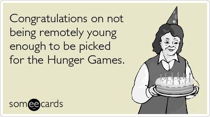 Hunger Games birthday card.