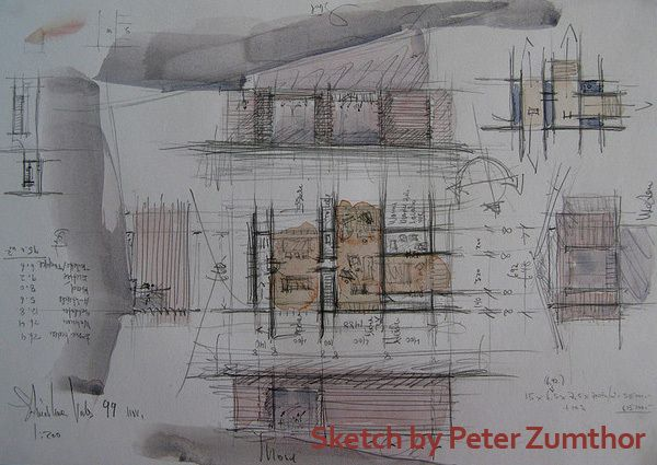Sketch by Peter Zumthor