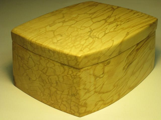 Spalted Maple bandsaw box, Bob McQueen