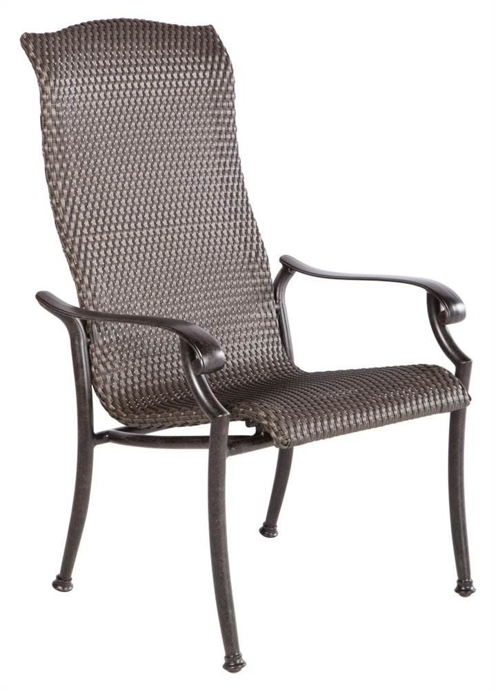 Barbados High Back All-Weather Wicker Dining Chair - Set of 2. Set of 2. Durable aluminum frame. Stainless steel hardware. Baked on powder coated frame finish. Adjustable feet levelers.