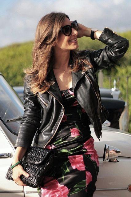 DRINK AND FASHION 2ND EDITION 6-7-2014  Leather jacket : cazadora : Mango dress : vestido : DG old heels : zapatos : Uterqüe