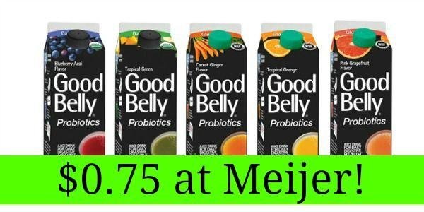 Meijer: GoodBelly Drinks Only $0.75!