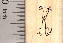 Stick Figure of Dog Rubber Stamp (Part of our Family Stick Figure Series) - A17419