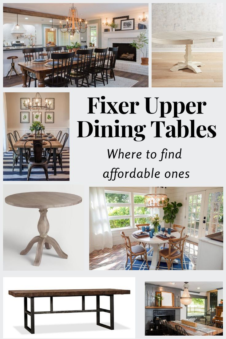fixer upper farmhouse dining table roundup favorite joanna gaines rh pinterest com