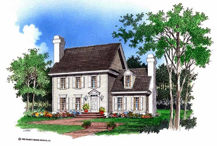 39 best house design images on pinterest cape cod homes for Small georgian house plans
