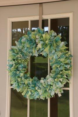 Simply Missy's Little Pleasures: Fabric Wreath