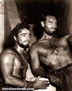 JOHN DEREK AND CHARLTON HESTON ON THE TEN COMMANDMENTS SET